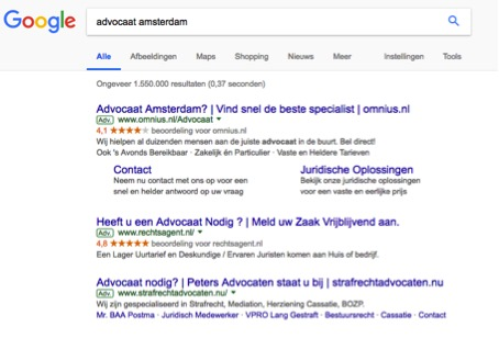 Adverteren in Google Search